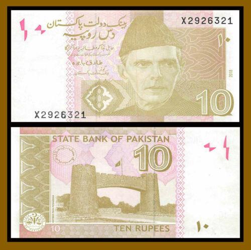 Pakistan 10 Rupees, 2018 P-45m Replacement (X) Unc
