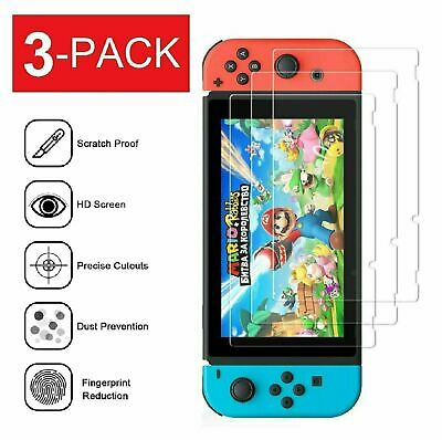 3-Pack Premium Clear Screen Protector Cover Film for Nintendo Switch Screen Protectors