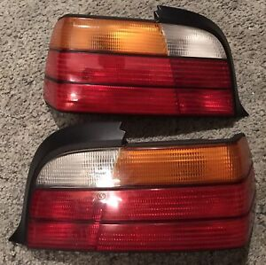 Bmw e36 oem coupe tail lights pair