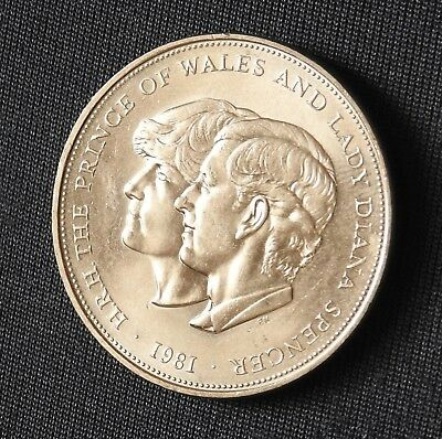 1981 Charles and Diana crown size coin