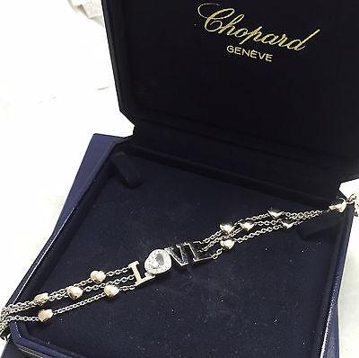 Chopard Happy Diamonds Love Bracelet 18kt White Gold Authentic!