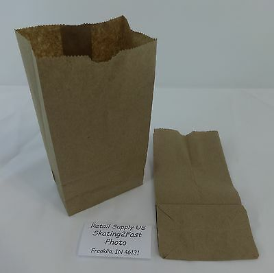 Qty 100 #2 Paper Brown Kraft Natural Snack Lunch Grocery Merchandise Retail Bags