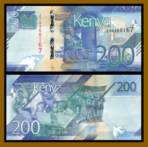 Kenya 200 Shillings, 2019 P-New Sports Education Health Replacement (ZZ) Unc
