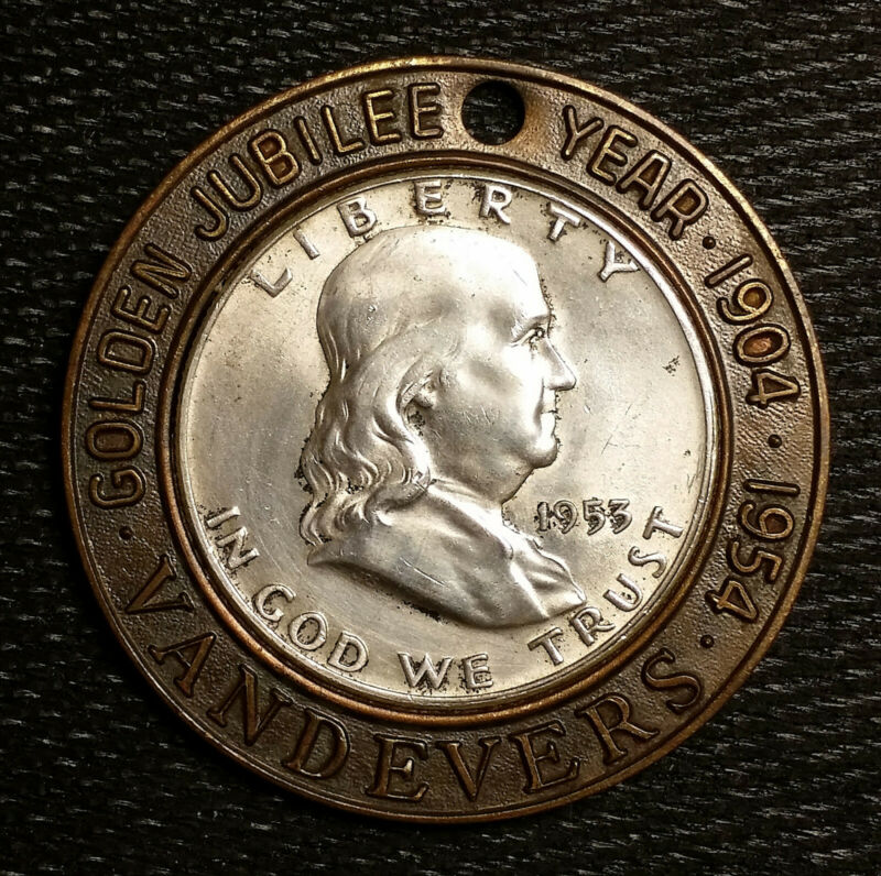 1953-D VANDEVERS Encased High Grade Franklin Silver Half Dollar Coin