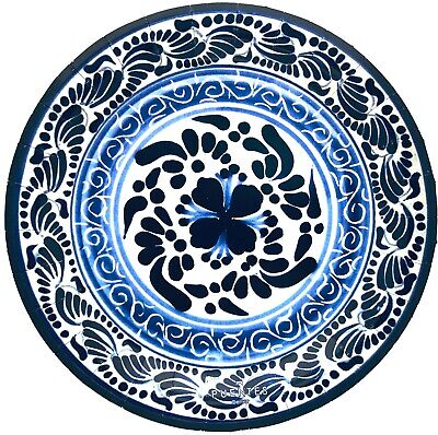 Paper Plates Mexican Design Talavera Design Mexico Themed Party, 20-Pack
