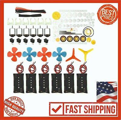 Eudax 6 Set Rectangular Mini Electric 84plastic Gears Wire 2 X Aa Battery Holder