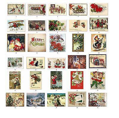 Personalized Return Address Vintage Christmas Labels Buy 3 get 1 free (cs1)