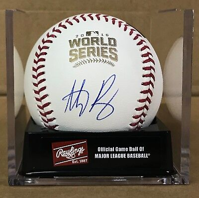 Anthony Rizzo Signed Autographed 2016 World Series Baseball #44 CHI CUBS COA