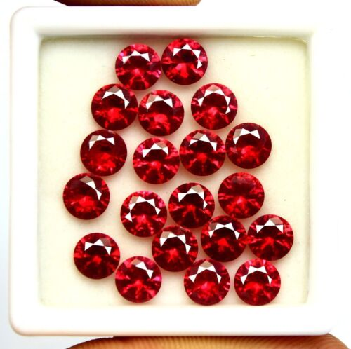 20.20 Ct Ggl Certified Natural Ruby Round Shape Loose Gemstone Lot 20 Pcs
