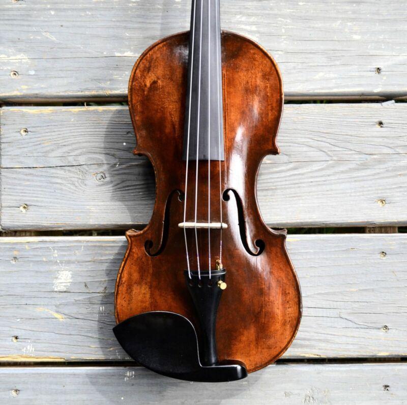 4/4 Violin Fiddle Labeled Schweitzer, open sweet sound
