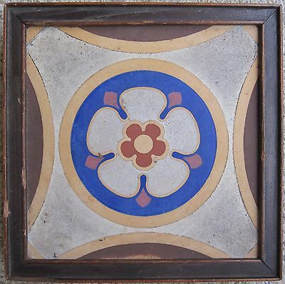 Antique 1859 Us House Capitol Encaustic Tile Stoke On Trent Abraham Lincoln Era