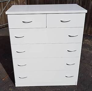 6 DRAWER TALLBOY WITH STAINLESS STEEL HANDLES Woody Point Redcliffe Area Preview