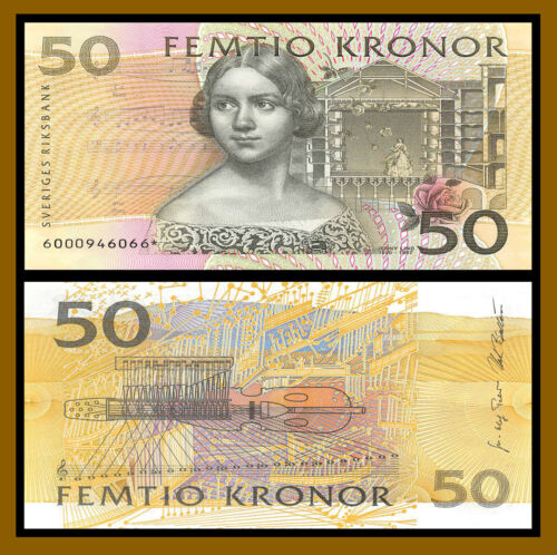Sweden 50 Kronor, 1996-2002 P-62a Repalcement Star (*) Uncirculated Unc