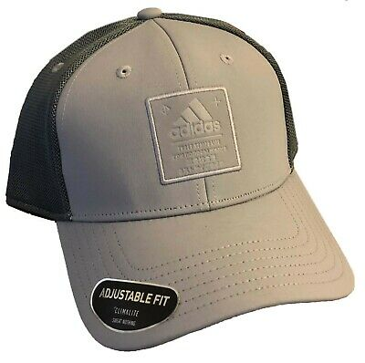 Adidas Snapback Adjustable Fit Gray/Dark Gray  CLIMALITE  Sweat Nothing Hat Cap