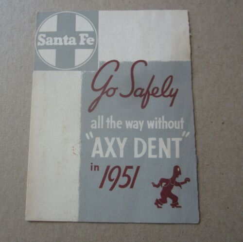 Old Vintage 1951 - Santa Fe RAILROAD - Safety Committee - Welcome Card