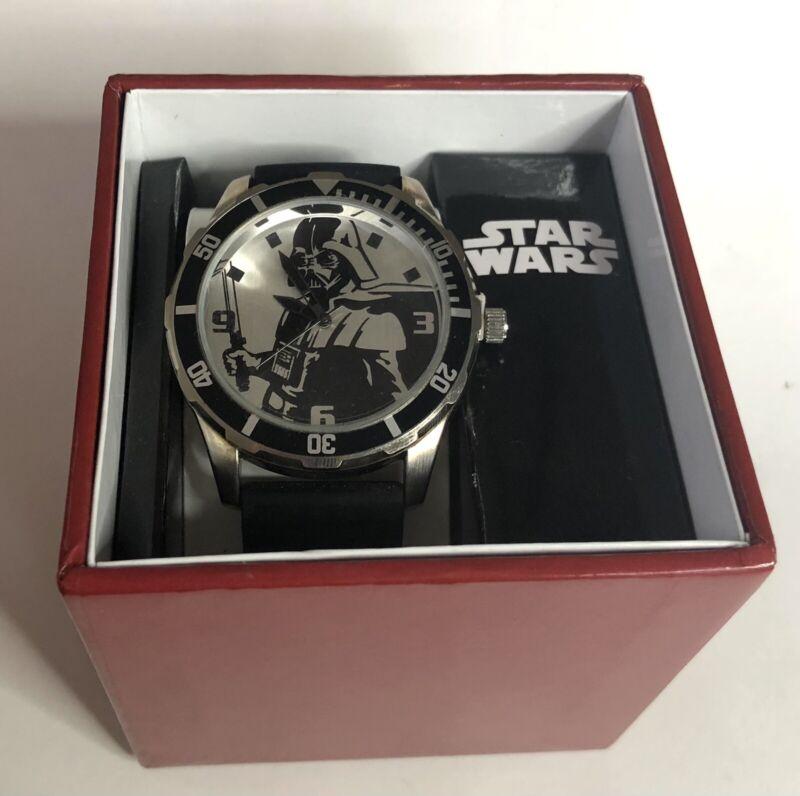 Disney Star Wars Darth Vader Stainless Steel Watch Two Tone Black Bracelet