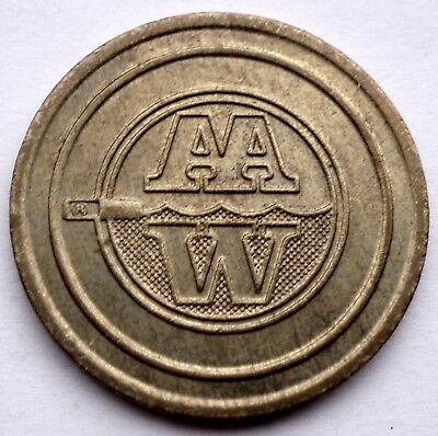 BELGIUM AAW All Automatic Wash, Carwash Token 26.75mm 7g Brass K4.1