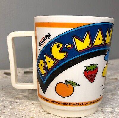 Vintage 1980's Amazing PAC MAN Midway Deka Plastic Mug Cup