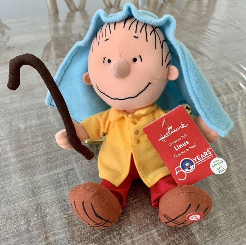 New Hallmark Peanuts Linus Christmas Pal with Sound Plush