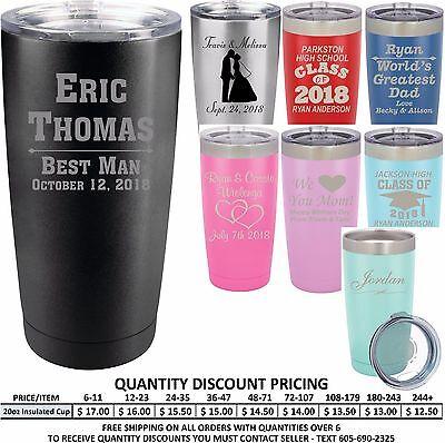 Custom Stainless Vacuum Insulated Tumblers Groomsmen Wedding Party Gift Best