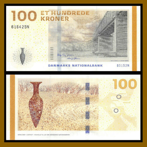 Denmark 100 Kroner, 2015 (2016) P-66d Bridge Serie Sig. Hugo Frey & Lars Unc