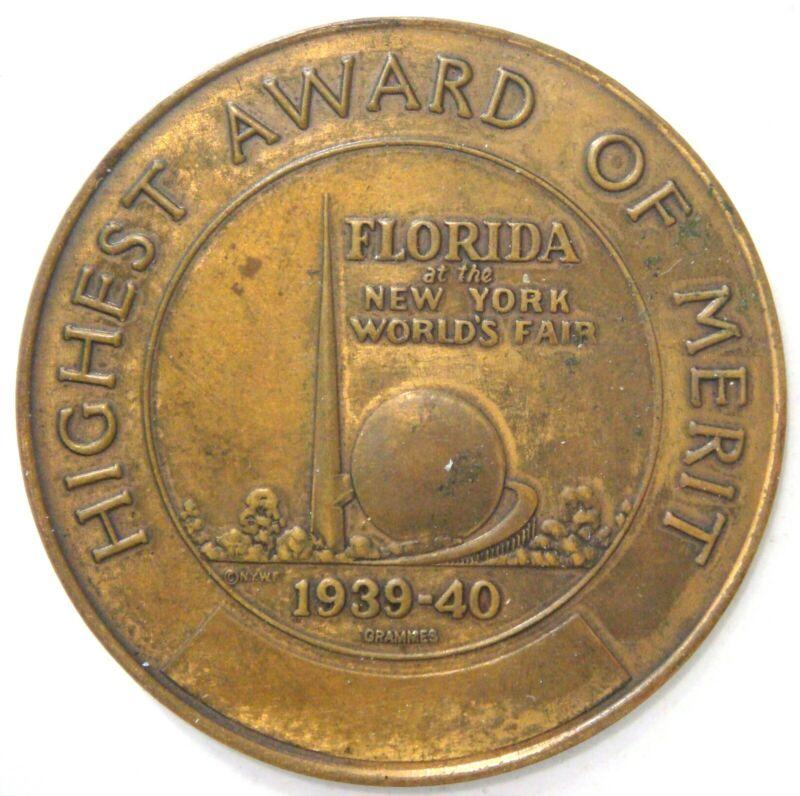 Highest Award of Merit, FLORIDA at the New York World