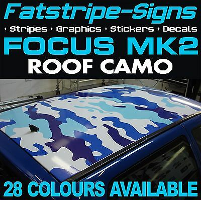 FORD FOCUS MK2 CAMO GRAPHICS STICKERS STRIPES DECALS ZETEC ST RS TURBO 2.0
