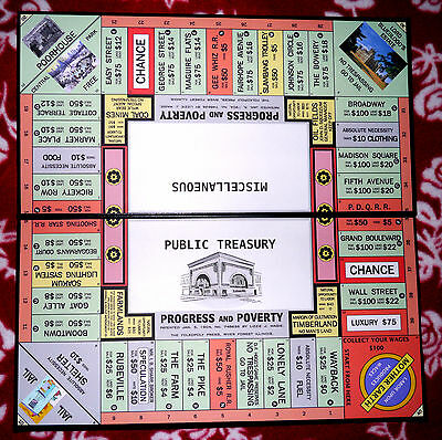 """Progress and Poverty"" Game Set, 1906 Style Repro/The Landlord's Game (Monopoly)"