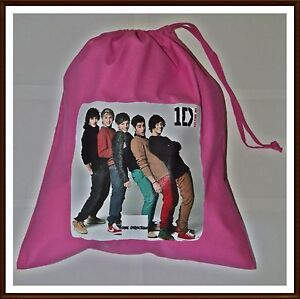 ONE-DIRECTION-COTTON-DRAWSTRING-PE-BAG-PUMP-GYM-SCHOOL-NEW