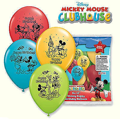 12 Mickey Mouse Latex Balloons Birthday Party Supply Decorations Favors - Yellow Birthday Party Decorations