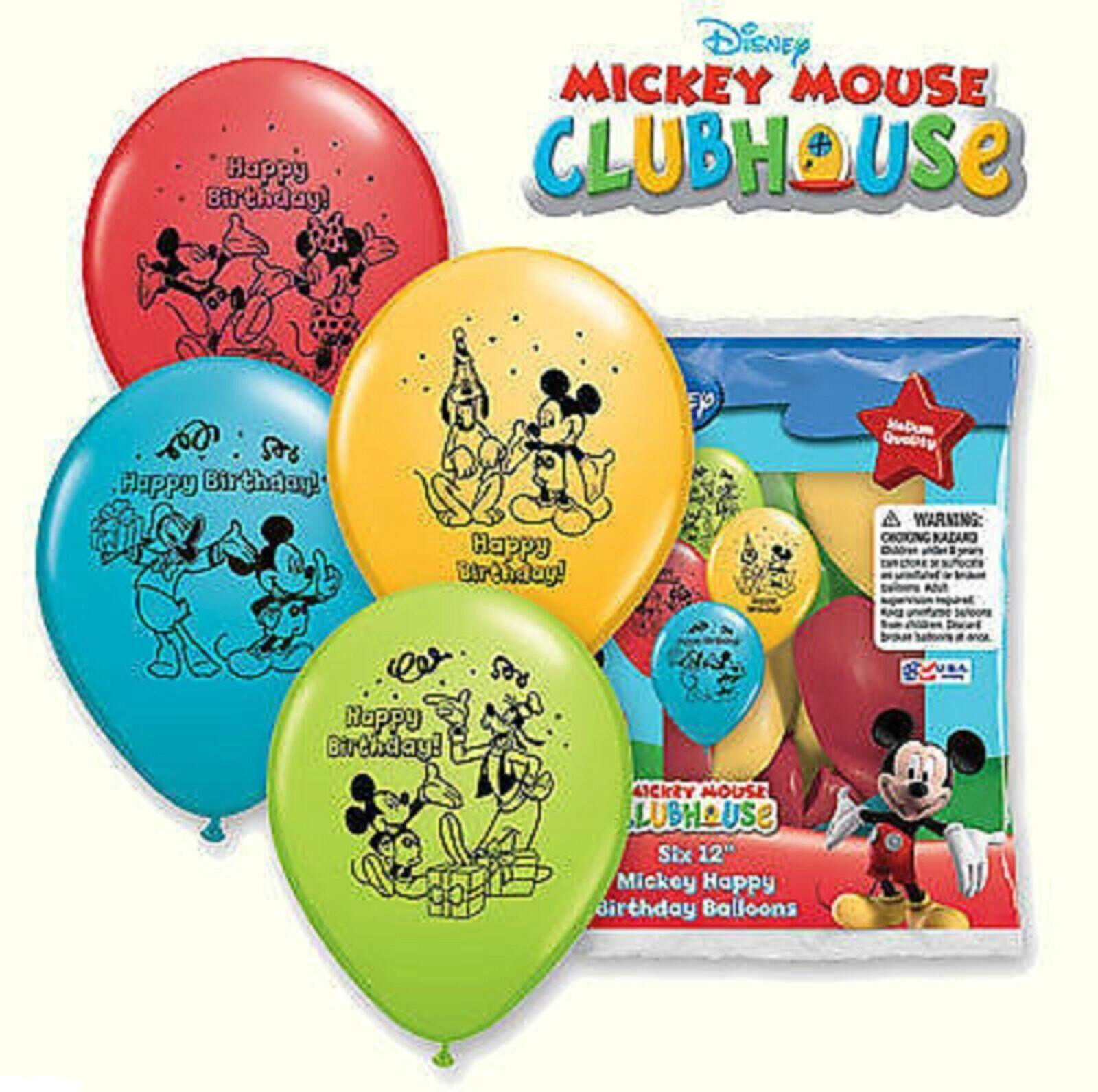12 Mickey Mouse Latex Balloons Birthday Party Supply Decorations ...