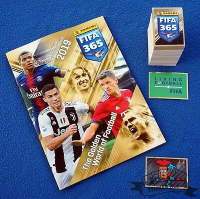 PANINI FIFA 365 2018/19, complete loose sticker set (+ S1 - S48) + empty album