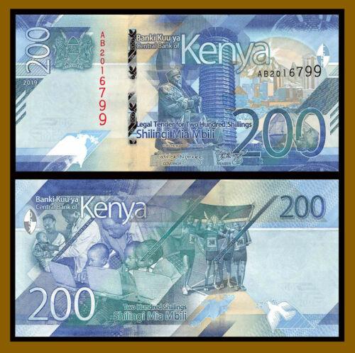 Kenya 200 Shillings, 2019 P-New Sports Education Health Unc
