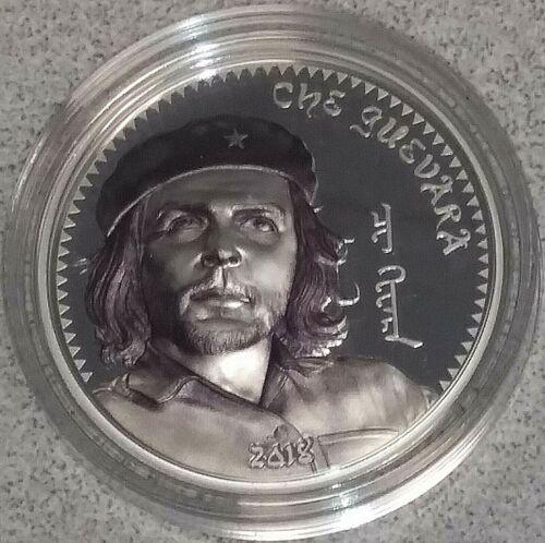 Che Guevara 1 oz Proof Silver Coin Mongolia 2018 1000 Torpor
