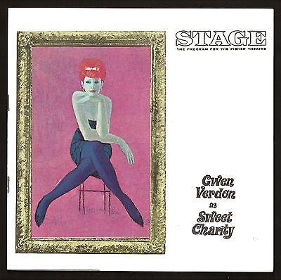 "Gwen Verdon ""SWEET CHARITY"" Cy Coleman / Bob Fosse 1965 Detroit Tryout Playbill"