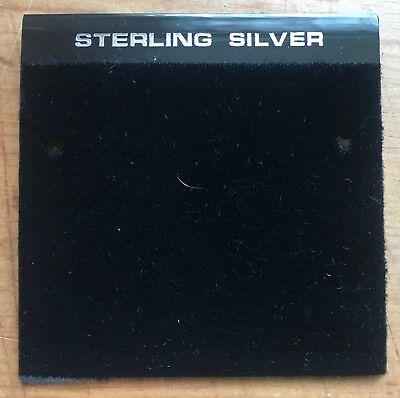 100ct Lot Sterling Silver Black Plastic Holder Hanging Earring Display Card