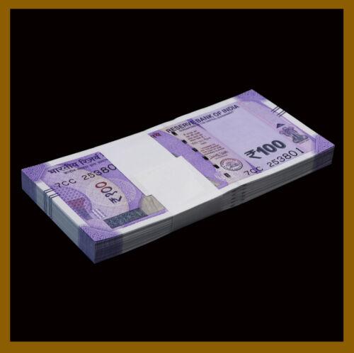 India 100 Rupees x 50 Pcs Bundle, 2018 P-112 New Mahatma Gandhi Unc