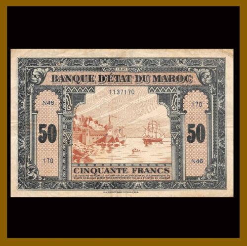 Morocco 50 Francs, 1943 P-26 Fine (F)