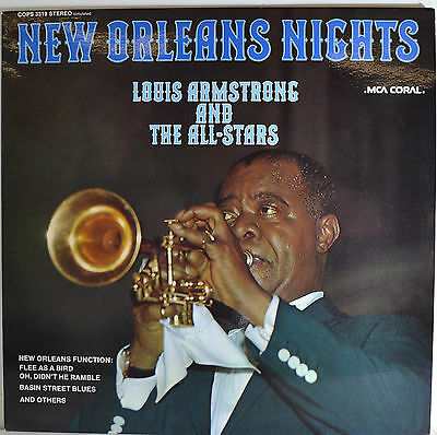 "NEW ORLEANS NIGHTS - LOUIS ARMSTRONG AND THE ALL STARS 12""  LP  (R279)"