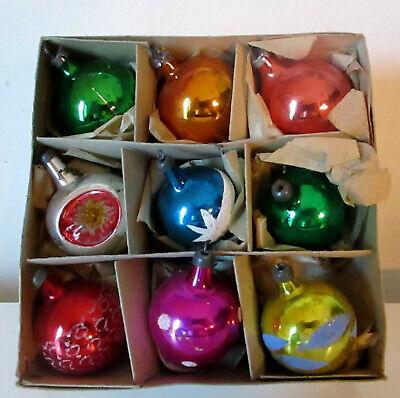 vintage palline addobbi in vetro x albero di natale-christmas-anni 50/60