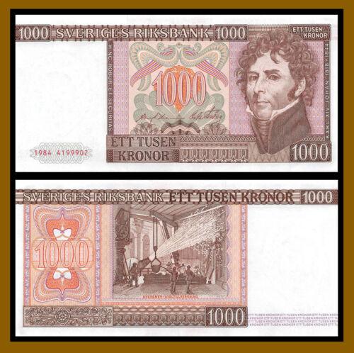 Sweden 1000 (1,000) Kronor, 1984 P-55bi Extra Fine (XF)
