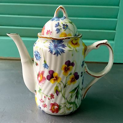 Floral Chintz Ceramic Teapot Night Light