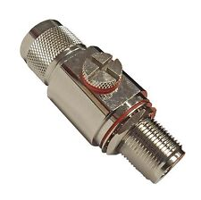 High Quality In-Line Coaxial Lightning Arrestor N Connectors M-F to 3 GHz