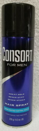 Consort For Men Unscented Extra Hold Hair Spray, 8.3 oz