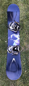 RIDE Timeless snowboard with Drake axis bindings