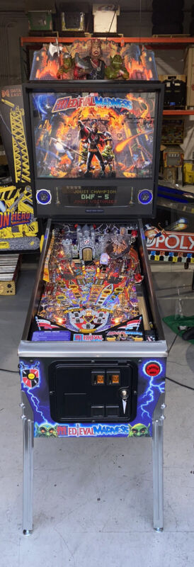 Medieval Madness Remake Special Edition Pinball Topper XL Display Free Shipping