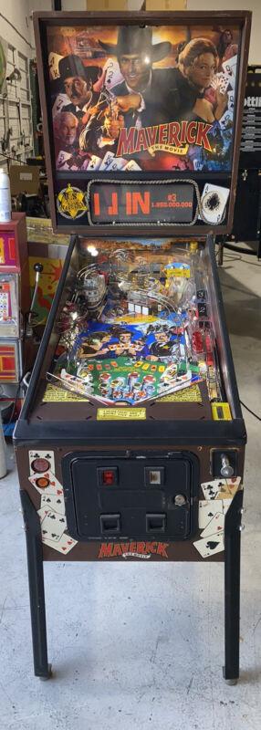 Maverick Pinball Machine Sega LEDs Free Shipping James Garner Mel Gibson