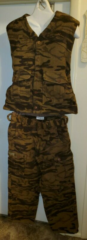 Columbia Wool Blend Camo Vest and Pants XL 40