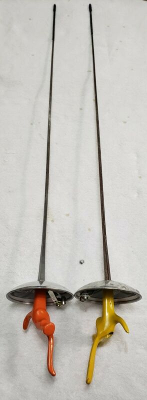 """(2) Absolute Fencing Swords 38"""" 1109-2/1110-2 USA (Pre-Owned)"""