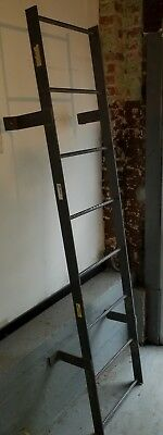 Steel Fixed Ladder - Reclaimed Industrial Salvaged Tri-Arc Fixed Steel Ladder, WLFS0108